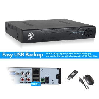 JOOAN JA-3104-EU 4CH Full D1 Real Time Recording CCTV DVR HDMI - Black - intl - 3