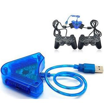Joypad Game Blue Controller to PC USB Converter Adapter For PS2 Playstation 2 GU - intl