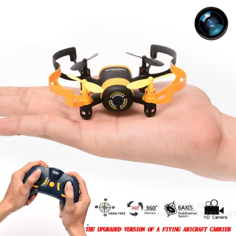 Jxd 512W Mini Ufo Wifi Phone Control Quadcopter (Black/Yellow) withFree Kds Beats-0022 100Db Stereo Subwoofer Over-The-Ear Headphones(Black)
