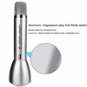 K-068 KTV Wireless Bluetooth Microphone (Silver) - 3