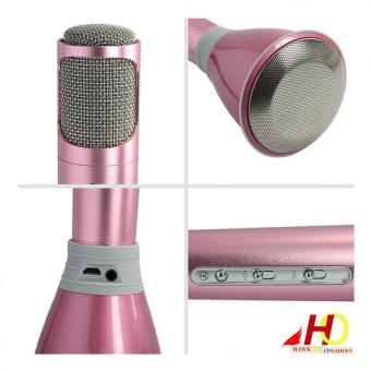 K068 Handheld KTV Wireless Bluetooth Microphone Karaoke PlayerPerfect Design for Karaoke (Rose Gold) - 5