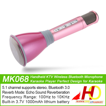 K068 Handheld KTV Wireless Bluetooth Microphone Karaoke PlayerPerfect Design for Karaoke (Rose Gold) - 2