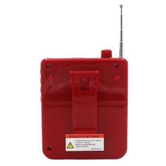 K150 Multi-Function SlingBand LoudSpeaker MegaPhone with Lapel Mic (Red) - 5