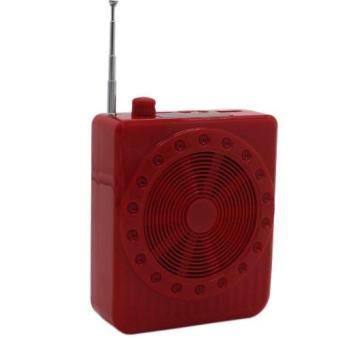 K150 Multi-Function SlingBand LoudSpeaker MegaPhone with Lapel Mic (Red) - 4