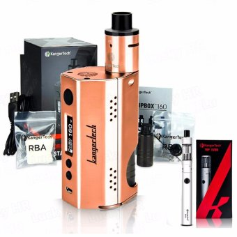 Kangertech Dripbox Variable Electronic Cigarette 160W Kit (Rose Gold) with KangerTech Top EVOD Electronic Vape Cigarette (Color May Vary)
