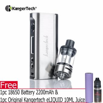 Kangertech SUBOX Mini C Starter Kit 50w w/ Kbox Mini C Mod Box andProtank 5 Atomizer Electronic Cigarette (Silver) with FREE 1pc18650 Battery 2200mAh & 1pc Original Kangertech eLIQUID 10MLJuice