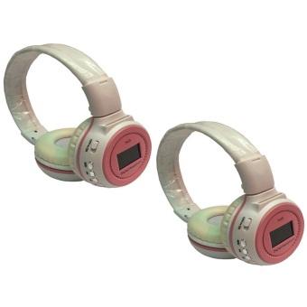 KDS N65 90dB Digital Headset (White/Pink) Set of 2