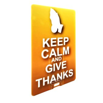 Keep Calm And Give Thanks 16GB USB Card Flash Drive - picture 2