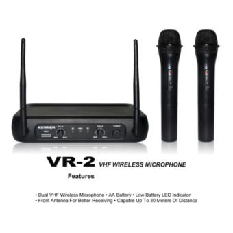 Kevler VR-2 Professional Wireless Microphone VHF Dual Channel