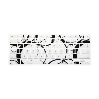 Keyboard Protective Film 11.6 Inch for Apple MacBook Air MacBook Pro (Black and White Circle) (Intl)