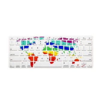 Keyboard protector 17 Inch for Apple Mac-book Air / Mac-book ProWorld Map Price Philippines