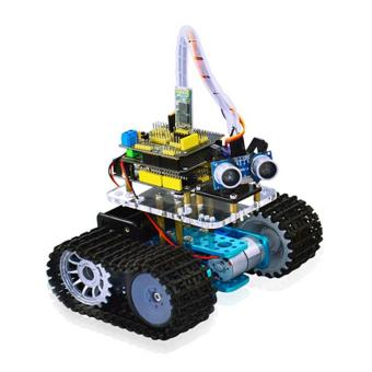 Keyestudio Bluetooth Mini Tank Robot Smart Car Kit - Black + Yellow- intl - 2