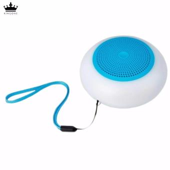 Kingone A6 Bluetooth Stereo Speaker with LED Lights (Blue)