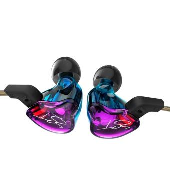 KZ ZST Balanced Armature Dynamic HIFI In-Ear Sport Earphone - Violet - intl - 2