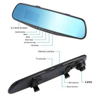 LCD HD Car DVR Car Camera Dash Cam Video Recorder Rearview MirrorVehicle DVR H-099