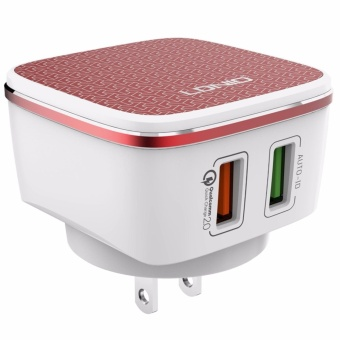 LDNIO A2405Q USB 5V 2.4A Quick Charge Universal Charger (Red/White) with Cable for Android - 2