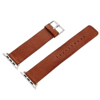 Leather Buckle Wrist Watch Band Strap Belt for Watch Apple Watch38mm - intl