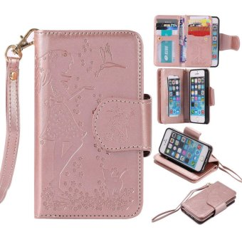 Leather PU Flip Wallet Case for Apple iPhone 5 5s SE - intl
