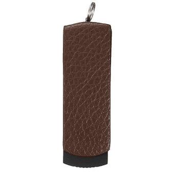 Leather Swivel 16GB USB 2.0 Flash Memory Stick Pen Drive Storage U-Disk QH Brown
