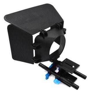 Leegoal 15mm Rod Rail Support System Quick Release Mount For DSLRFollow Focus Rig 5D2 5D3 - Intl - 4