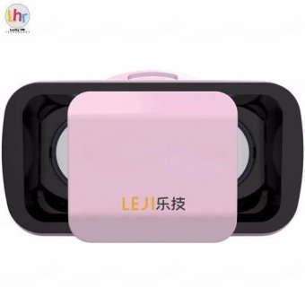 LEJI VR Box VR Mini Immersive 3D VR Virtual Reality Glasses for Smartphones (Pink)