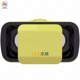 LEJI VR Box VR Mini Immersive 3D VR Virtual Reality Glasses for Smartphones (Yellow)
