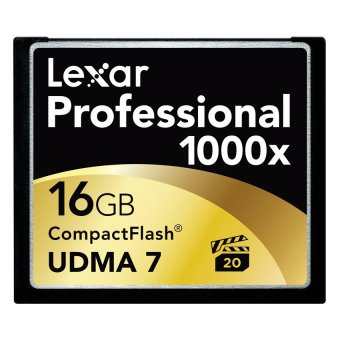 Lexar 16GB Professional 1000x CompactFlash Card (Black)