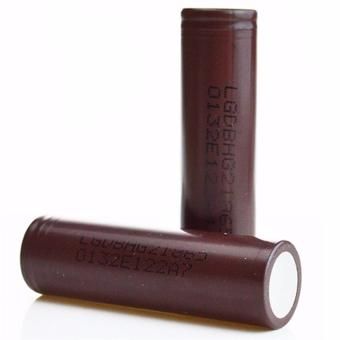 LG 18650 3000mAh Flat Top Rechargeable Battery Set of 2 (Choco)