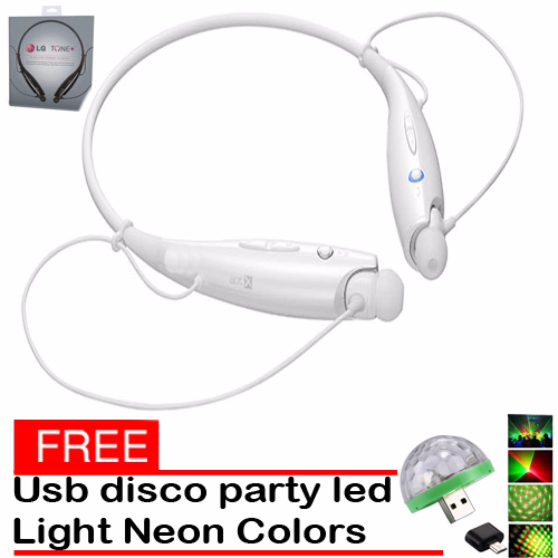 Philippines Lg Hbs 730 Bluetooth Wireless Stereo Headset White Tone With Free Ledsmall Magic Ball