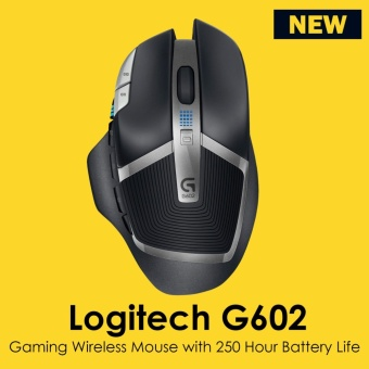 Logitech G602 Gaming Wireless Mouse with 250 Hour Battery Life New Product - intl