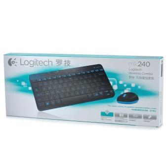 Logitech MK240 79-Key Wireless Keyboard w/ 1000dpi Mouse - Black +Blue (4 x AAA) - intl - 3