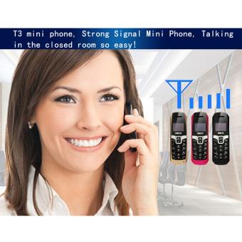 LONG-CZ T3 2G GSM Mini Phone 500mAh High Capacity Battery LongestTalking Call and Standby Time Black - intl - 5