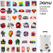 Love adorable cartoon travel box computer skateboard sticker cartoon adhesive paper