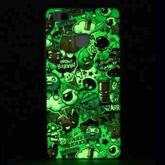 Luminous Effect TPU Phone Back Case Cover For Huawei P9 Lite(Garbage) - intl - 2