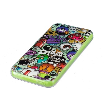 Luminous Effect TPU Phone Back Case Cover For iPhone 5c (Garbage) - intl - 2