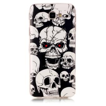 Luminous Glow in the Dark IMD TPU Case for Samsung Galaxy J7 Prime/On7 2016 - Skulls - intl