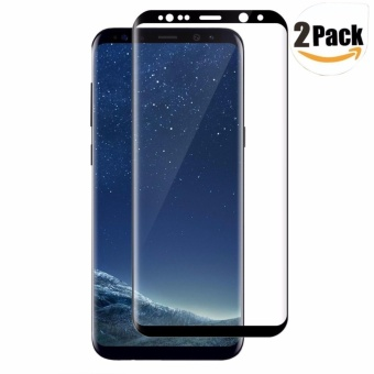 LUOWAN Galaxy S8 Plus Tempered Glass Screen Protector,[2 pack]3DFull Coverage Screen Protector for Samsung Galaxy S8 Plus(Black) -intl