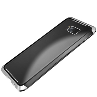 Luphie Toughend Glass Back Aluminum Metal Frame Case Cover forSamsung Galaxy S8 Plus - intl - 2