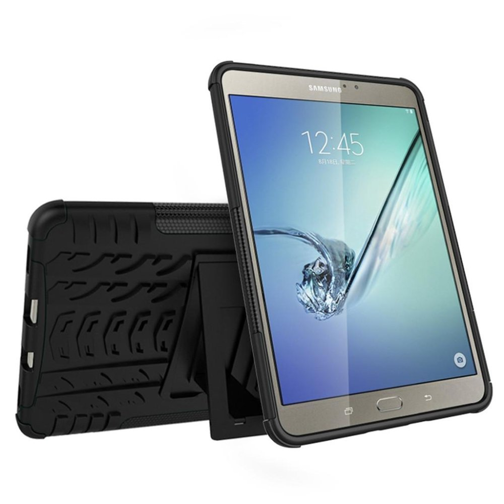 Luxury Back Armor Style Cover (PC and Soft TPU) Shockproof Protection and Stand Tablet