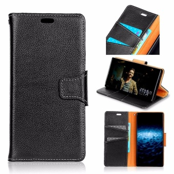 Luxury Genuine Leather Wallet Case Cover for Samsung Galaxy Note 8(Black) - intl