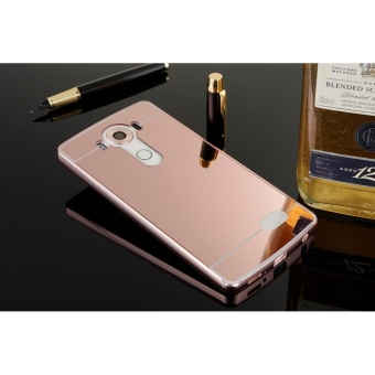 Luxury Metal Frame And Mirror PC Back Cover Case For LG V10 - intl