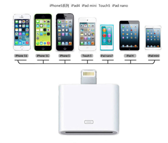 LYBALL 30 Pin to 8 Pin Lightning Adapter Converter for iPhone 4 to iPhone 5 6 6S 6 Plus