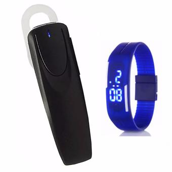 M169 Bluetooth Stereo Headset (Black) with LED Watch Color May Vary Price Philippines