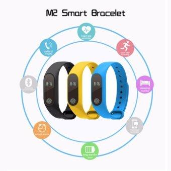 M2 Smart Wristband Bracelet Heart Rate Pulse Meter IP67 WaterproofCall Reminder Pedometer Fitness Sleep Tracker iOS PK Mi Band - intl - 2