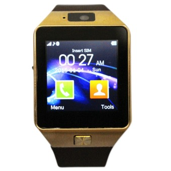 M9 Intelligent Phone Quad Smart Watch with Sim Card Slot(Gold/Brown)