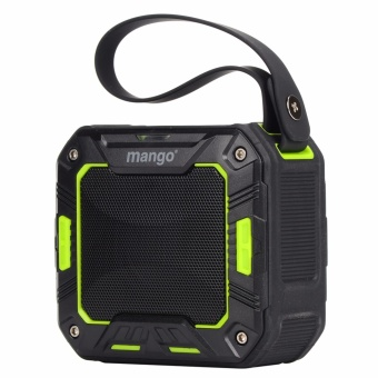 Mango Portable Bluetooth Speaker (green) IP65 Waterproof for Shower Bathroom / Outdoor Activities
