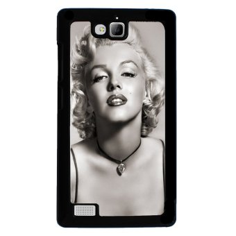 Marilyn Monroe Pattern Phone Case for Huawei Honor 3C (Black) - picture 2