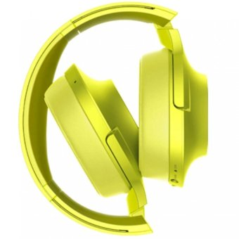 MDR-100ABN 103dB Stereo Subwoofer Wireless Bluetooth Headset (Yellow/Green) - 2