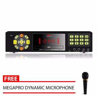 Megapro MP-2000 PRO DVD Karaoke Player (Black) with Free MegaproMicrophone
