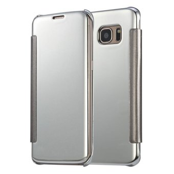 Philippines | Meishengkai Case For Samsung Galaxy S6 Edge Plus FlipSpecular Mirror Protective Cover Case with Smart Sleep Silver -intl eShop Checker